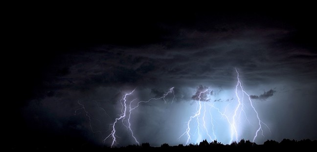 Photographing lightning requires luck and skill, but mainly luck.