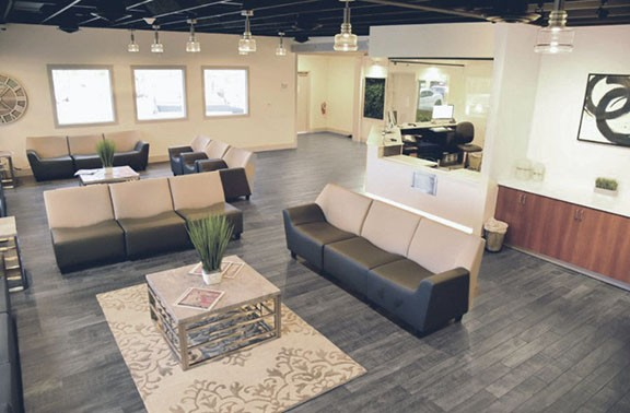 Both Earth's Healing locations offer a comfortable, modern space for patients.