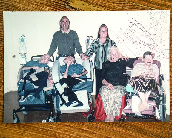 The Arrington family, Top from left: Duke, Blinda. Bottom: the twins, Fay, Darla Kay. - COURTESY OF FAY ARRINGTON