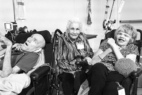Darrel, Fay and Darla Kay Arrington during one of Fay's frequent visits to Coolidge. - PATRICK BRYANT