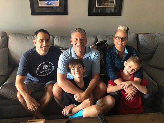 Steve Zeidman, Brian Hatfield and Beverly Wohlert with their sons, Tristan Hatfield-Zeidman and Jayden Wohlert.