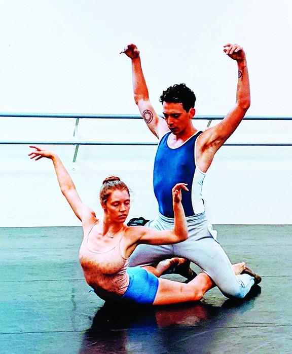 Ballet Tucson's Elizabeth Kanning, left, and Casey Myrick rehearse dance by famed choreographer Christopher Wheeldon.