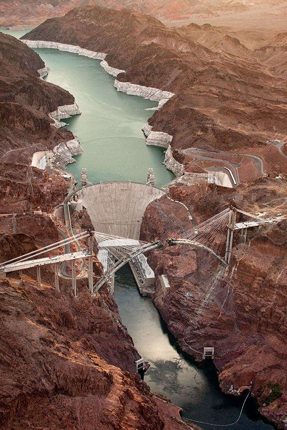 Detail from Aerial View, June 30, 2009, from The Bridge Over the Hoover Dam, courtesy Etherton Gallery