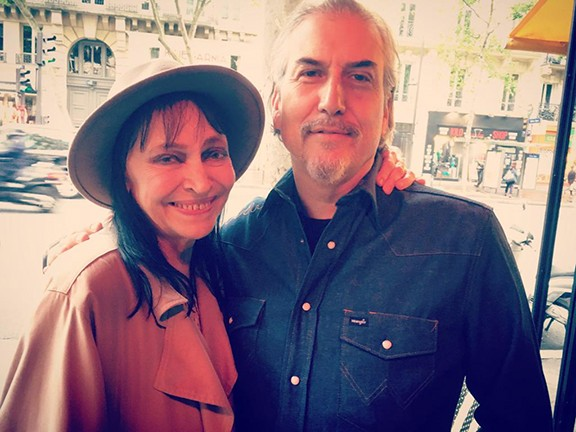 Anna Karina with Howe Gelb in Paris.