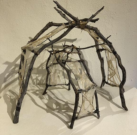 """Stick Swirl"" by Selena Littler, manzanita branches with hog casing."