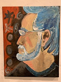 A self-portrait painted by Charlie Spillar - PHOTO BY BRIAN SMITH