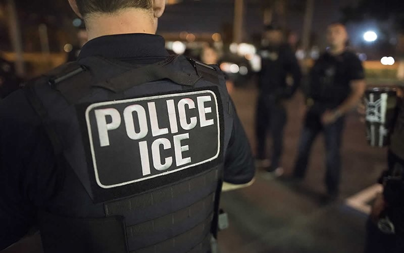 Immigrations and Customs Enforcement officers during an arrest this month in New York City. Privately run ICE detention centers for migrants came under scrutiny by a House panel Monday, which asked whether the contractors have done enough to protect detainees and employees from COVID-19. - PHOTO COURTESY IMMIGRATIONS AND CUSTOMS ENFORCEMENT
