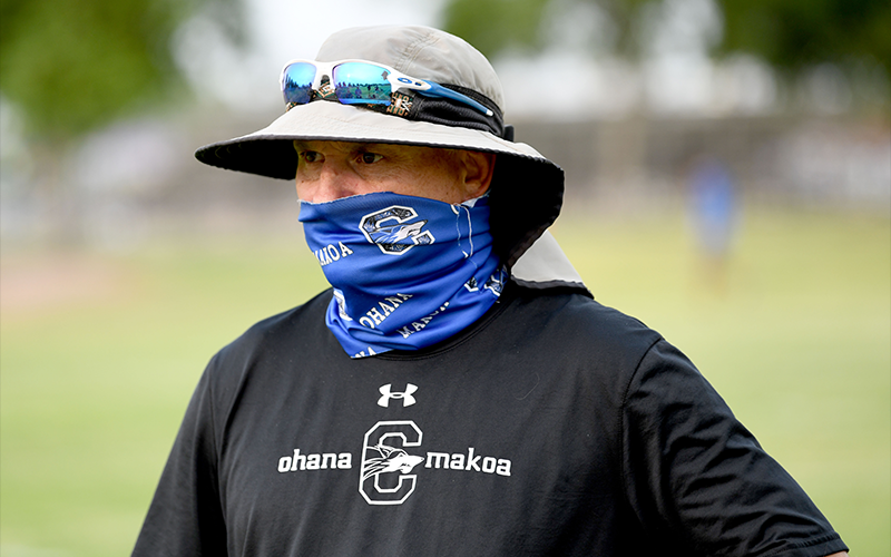 Chandler High School, led by coach Rick Garretson, is atop the 6A rankings during a season disrupted by COVID-19 challenges. - KEVIN HURLEY/CRONKITE NEWS