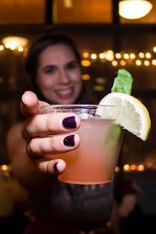 The crimson cocktail strikes again.