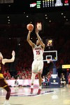 Allonzo Trier spots up for a three-pointer during Arizona's 84-78 win over Arizona State on Dec. 30.