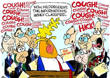 Claytoon of the Day: Coughing Up Classified