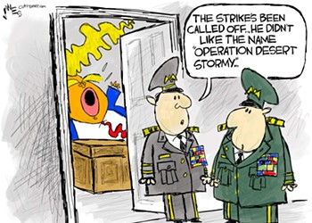 Claytoon of the Day: Operation Desert Stormy