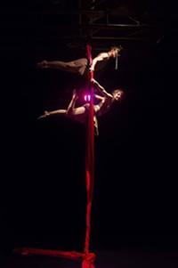 PHOTO BY LARRY HANELIN - Zuzi Dance Company's Monica Silva and Jennifer Coughlan.
