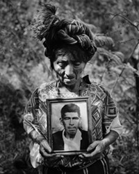 Ixil woman, from the area where Tucson's Guatemala Project works, mourns here husband, killed by the Guatemalan army.  A framed copy will be auctioned at the event. - Uploaded by Ila L. Abernathy