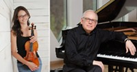 Violinist Michelle Abraham and pianist Peter Takacs - Uploaded by garrwald