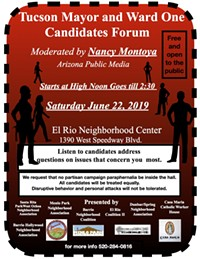 Mayor and Ward One Candidates Forum - Uploaded by greenshoe