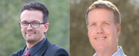 RepublicanSteve Spain (left) and Democrat Rex Scott are in a race to replace the retiring Ally Miller on the Pima County Board of Supervisors.