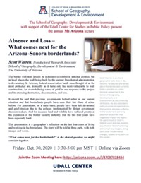 Details for the 2020 My Arizona Lecture featuring Scott Warren - Uploaded by molli.bryson