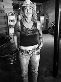 BRIAN SMITH - Dawn Brandt at her studio.
