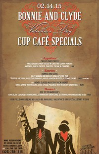 Valentines Day Special Features Menu