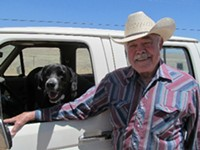 LEO W. BANKS - Writer J.P.S. Brown and his dog Mikie, on a recent trip to the San Rafael Valley.